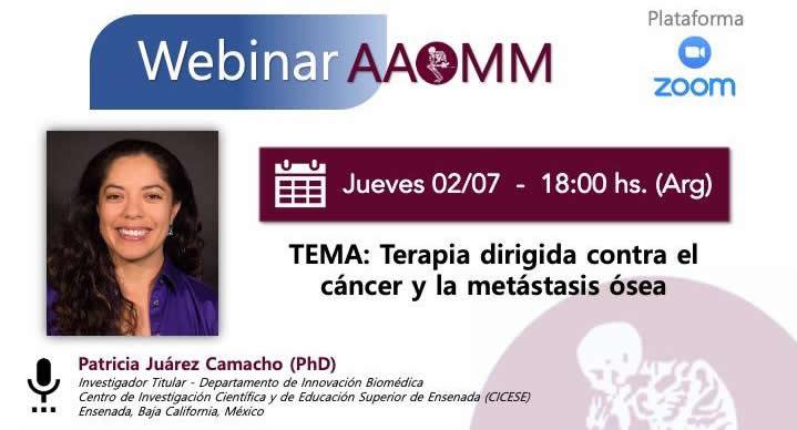 Webinar AAOMM – Dra. Juarez