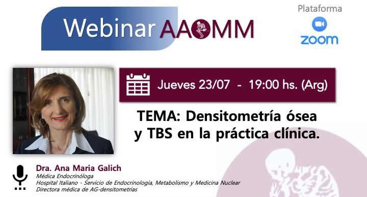 Webinar AAOMM – Dra. Galich