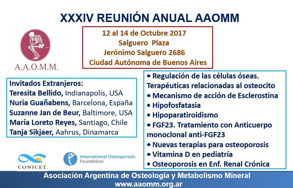 Reunión Anual AAOMM 2017