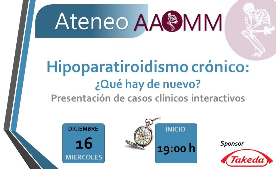 Ateneo Hipoparatiroidismo crónico