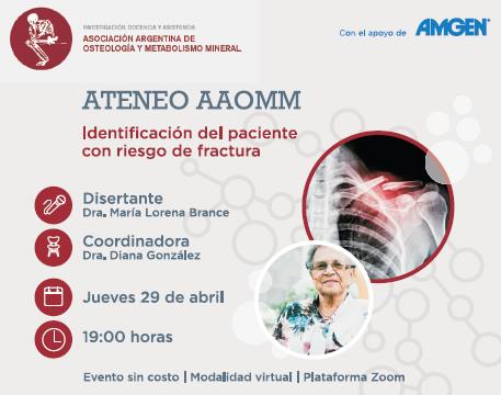 Ateneo Identificación del paciente con riesgo de fractura – 29/4