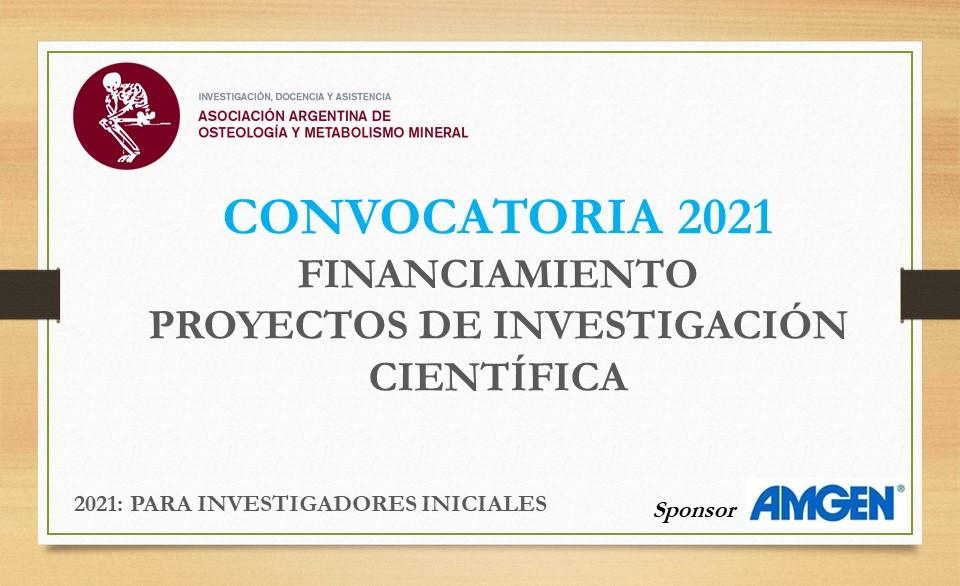 Convocatoria Financiamiento 2021